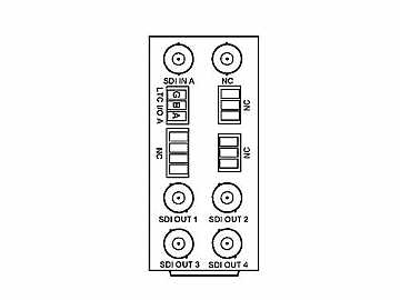 RM20-9391-D 20-slot Frame Rear I/O Module (Stand Wdth) 3G/HD/SD-SDI by Cobalt Digital