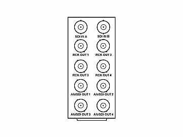 RM20-9501-A 20-slot Frame Rear I/O Module (Stand Wdth) 3G/HD/SD-SDI by Cobalt Digital