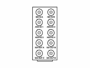 RM20-9901-B 20-slot Frame Rear I/O Module (Stand Wdth) 3G/HD/SD-SDI by Cobalt Digital
