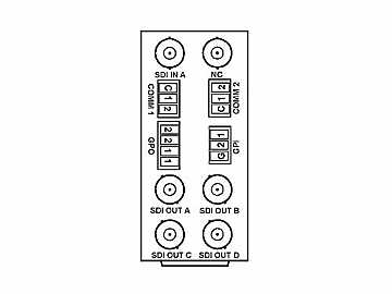 RM20-9931-H 20-slot Frame Rear I/O Module (Stand Wdth) 3G/HD/SD-SDI BNC by Cobalt Digital
