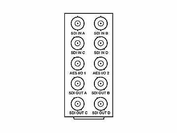 RM20-9985-C 20-slot Frame Rear I/O Module (Stand Wdth) 3G/HD/SD-SDI by Cobalt Digital