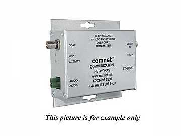 CLRVE2COAX Dual Analog Baseband Video/Ethernet Over Single RG59 Cable Extender (Receiver) by Comnet