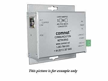 CNFE1005POEM/M 2 fiber MM ST Hardened 100Mbps Media Converter 48V POE 30W by Comnet