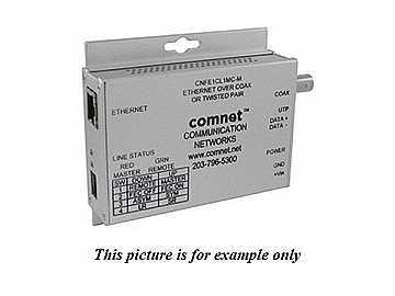 CNFE1CL1MC-M Small Size 10/100Mbps MediaConverter Ethernet to Copper/COAX by Comnet