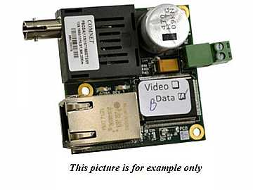 CNFE1M2/5 2 fiber MM ST connector 100Mbps InDome Media Converter by Comnet