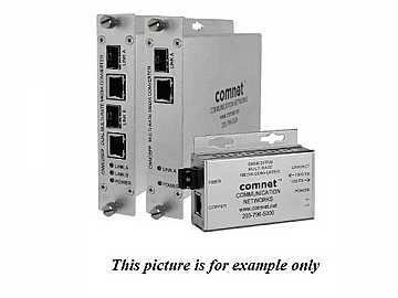 CNMC2SFP Dual 10/100/1000Mbps MultiRate Media Converter 100FX/1000FX by Comnet