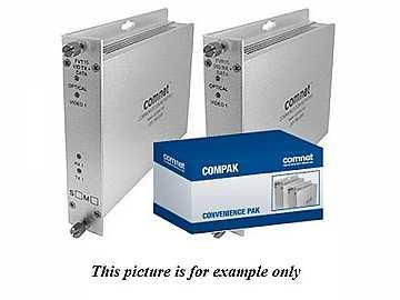 COMPAK15M2 MM 2 Fiber FVT/R15M2 Video/Reverse Data Extender (Transmitter/Receiver) Kit by Comnet