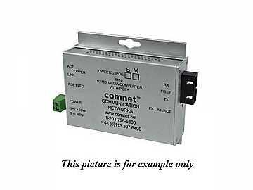 CWFE1003POES/M 2 Fiber SM Commercial 100Mbps Media Converter SC/48V/POE/30 W by Comnet