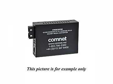 CWGE2SCS2 Commercial Grade 1000Mbps Media Converter sm 2F SCPS Included by Comnet