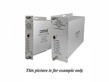 FDC80RS1 SM 1Fiber 8 Channel Contact Closure Extender (Receiver) by Comnet
