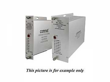 FDC80TS1 SM 1Fiber 8 Channel Contact Closure Extender (Transmitter) by Comnet