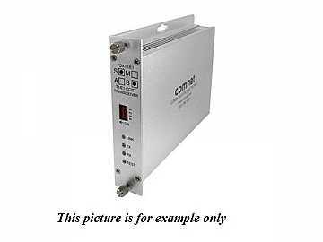 FDXT1/E1S1(B) SM 1Fiber optic T1 E1/CCITT/Extender (Transceiver) by Comnet