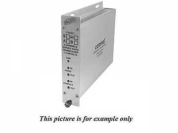 FTA2C1S1 SM 1Fiber Simplex Audio Contact Closure Extender (Transmitter) by Comnet