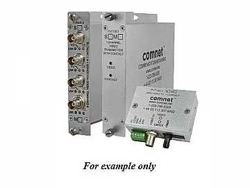 FVR10C1M1 10Bit MM 1fiber Digitally Encoded Video Extender(Receiver)/Contact Closure by Comnet
