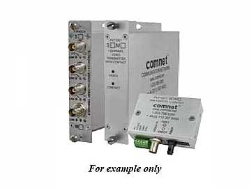 FVR10C1S1 10 Bit SM 1fiber Digitally Encoded Video Extender(Receiver)/Contact Closure by Comnet