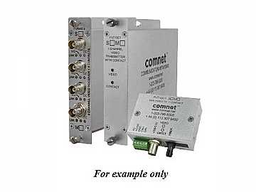 FVR10C1S1/M 10 Bit SM 1fiber Digitally Encoded Video Extender(Receiver)/Contact Closure by Comnet