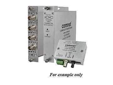 FVR20C2M2 10 Bit MM 2 fiber Digitally Encoded Video Extender(Receiver)/Contact Closure by Comnet