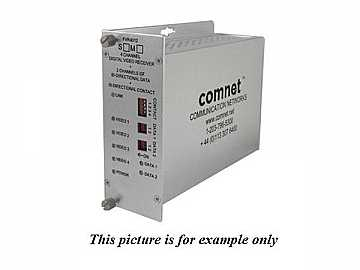 FVR4012S1 SM 1fiber 4 Channel Video Extender (Receiver) with 2 Bi directional Data Channel by Comnet
