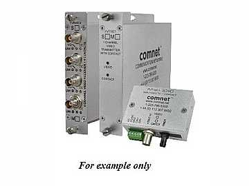 FVR40C4S4 10Bit SM 4fiber Quad Digitally Encoded Video Extender (Receiver)/Contact Closure by Comnet