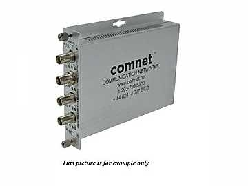 FVR4C4BM4 Multimode 4 Channel Fiber Digitally Encoded Video Extender (Receiver)/Contact Closure by Comnet