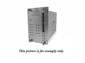 FVR8018M1 MM 1fiber 8 Channel Video/8 Bi-directional Data Extender (Receiver) by Comnet