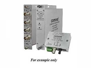 FVT10C1M1 10Bit MM 1fiber Digitally Encoded Video Extender (Transmitter)/Contact Closure by Comnet