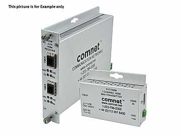 FVT2MI Dual HDMI Multi-Mode Fiber Optic Transmitter by Comnet
