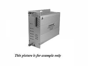 FVT4014S1 SM 1fiber 4 Channel Video Extender(Transmitter) with 4 Bi directional Data Channel by Comnet