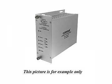 FVT40A4M MM 1fiber 4 Channel Digitally Encoded Video/Audio Extender (Transmitter) by Comnet