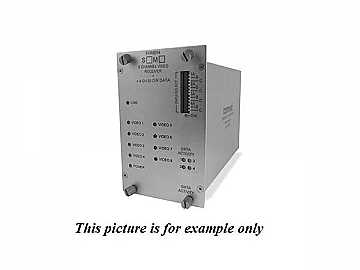 FVT8018S1 SM 1fiber 8 Channel Video/8 Bi-directional Data Extender (Transmitter) by Comnet