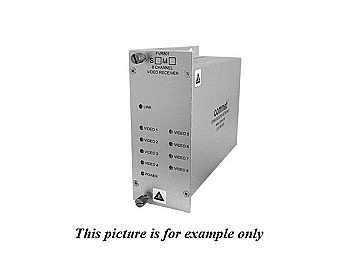 FVT801S1 SM 1fiber 8 Channel Digitally Encoded Video Extender (Transmitter) by Comnet