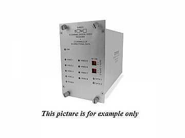 FVT812S1 SM 1fiber 8 Channel Video Extender (Transmitter) with 4 Bi directional Data Channel by Comnet
