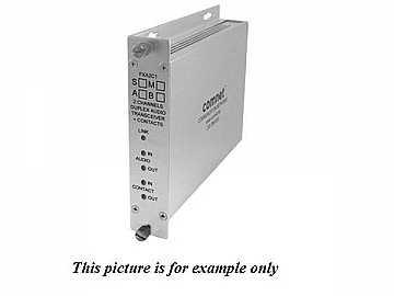 FXA2C1S1B SM 1Fiber Bi directional Audio/Bi-directional Contact Closure by Comnet