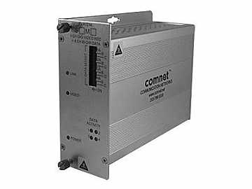 FVR1014S1 SM 1 fiber Encoded Video Extender (Receiver) with 4 Bi-directional Data by Comnet