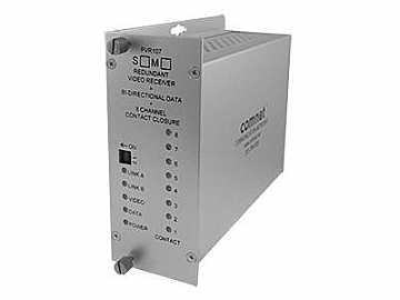 FVR107S1 8 Port 1fiber SM 10Bit Bi directional Video/Data Receiver by Comnet