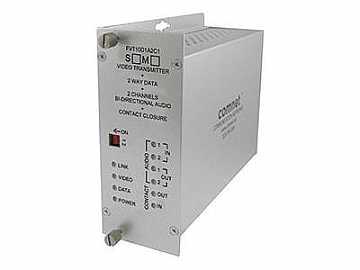 FVR10D1A2C1M1 10bit MM 1fiber Video/Bi Directional Data/Audio Extender (Receiver) by Comnet