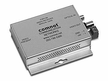 FVR11M Multimode fiber optic Mini Video Extender (Receiver) with Automatic Gain Control by Comnet