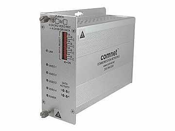 FVR414M1 MM 1fiber 4 Channel Video Extender (Receiver) 4 Bi-directional Data Channels by Comnet