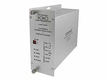 FVT10D1A2C1S1 10bit SM 1fiber Video/Bi Directional Data/Audio Extender (Transmitter) by Comnet