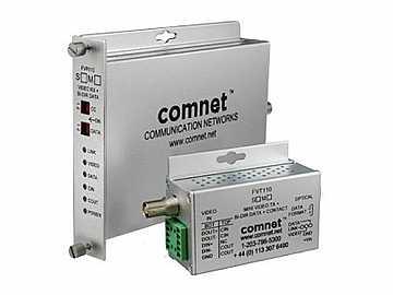 FVT110S1 SM 1 Fiber Digitally Encoded Video Transmitter with Data Transceiver by Comnet