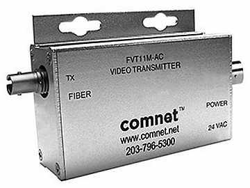 FVT11MAC Multimode fiber optic Mini AM Video Extender (Transmitter)/24VAC by Comnet