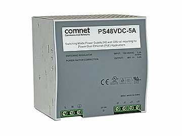 PS48VDC-5A 48VDC 5Amp 240W Switching Mode Power Supply for CNGE2FE8MSPOE/PoE by Comnet
