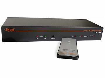 DS-21RA 2x1 DVI Switcher w/IR/RS232 and Audio by Digital Extender