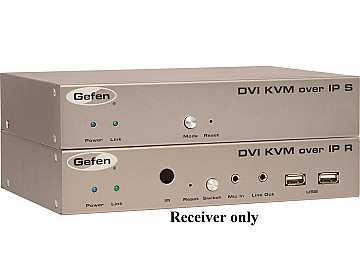 EXT-DVIKVM-LANRX DVI KVM over IP Extender (Receiver) by Gefen
