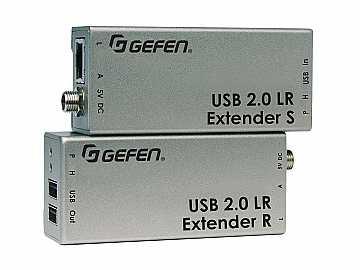 EXT-USB2.0-LR USB 2.0 Extender (Receiver/Sender) Kit by Gefen