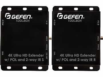 GTB-HDBT-POL-BLK Extender (Receiver/Sender) Kit for HDMI with POL - Black by Gefen