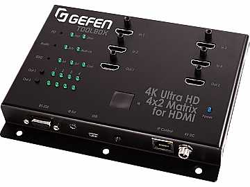 GTB-HD4K2K-442-BLK 4x2 Matrix Swither for HDMI 4Kx2K Black by Gefen