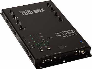 GTB-HD4K2K-642-BLK 6x2 Matrix Switcher for HDMI 4Kx2K Black by Gefen