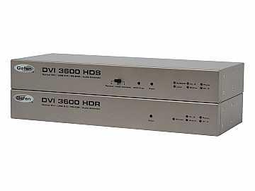 EXT-DVI-3600HD DVI Fiber Optic DVI/ USB 2.0 / RS-232/ Audio Extender Kit  and KVM Switch by Gefen