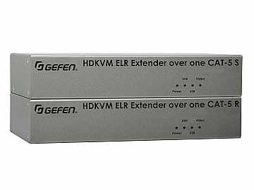 EXT-HDKVM-ELR HD KVM ELR Extender (Receiver/Sender) Kit HDMI and USB over One CAT5 by Gefen